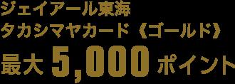 ジェイアール東海 タカシマヤカード《ゴールド》 最大5,000ポイント
